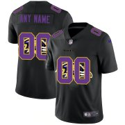 Wholesale Cheap Baltimore Ravens Custom Men's Nike Team Logo Dual Overlap Limited NFL Jersey Black
