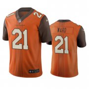 Wholesale Cheap Cleveland Browns #21 Denzel Ward Brown Vapor Limited City Edition NFL Jersey