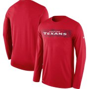 Wholesale Cheap Houston Texans Nike Sideline Seismic Legend Long Sleeve T-Shirt Red