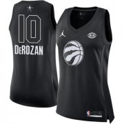 Wholesale Cheap Nike Toronto Raptors #10 DeMar DeRozan Black Women's NBA Jordan Swingman 2018 All-Star Game Jersey