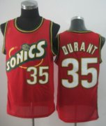 Wholesale Cheap Seattle Supersonics #35 Kevin Durant 1995-96 Red Swingman Jersey