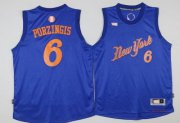 Wholesale Cheap Men's New York Knicks #6 Kristaps Porzingis Adidas Royal Blue 2016 Christmas Day Stitched NBA Swingman Jersey