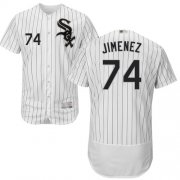 Wholesale Cheap White Sox #74 Eloy Jimenez White(Black Strip) Flexbase Authentic Collection Stitched MLB Jerseys