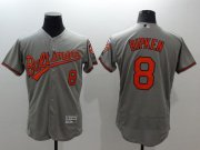 Wholesale Cheap Orioles #8 Cal Ripken Grey Flexbase Authentic Collection Stitched MLB Jersey