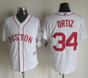 Wholesale Cheap Red sox #34 David Ortiz White Alternate Home New Cool Base Stitched MLB Jersey
