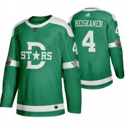Wholesale Cheap Adidas Dallas Stars #4 Miro Heiskanen Men's Green 2020 Winter Classic Retro NHL Jersey