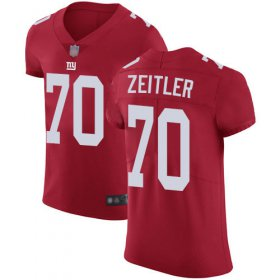 Wholesale Cheap Nike Giants #70 Kevin Zeitler Red Alternate Men\'s Stitched NFL Vapor Untouchable Elite Jersey
