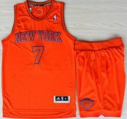 Wholesale Cheap New York Knicks 7 Carmelo Anthony Orange Revolution 30 Swingman NBA Jerseys Shorts Suits Christmas Style