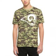 Wholesale Cheap Men's Los Angeles Rams '47 Camo Alpha T-Shirt