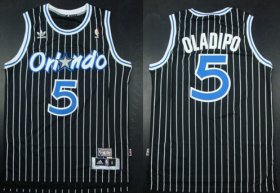 Wholesale Cheap Orlando Magic #5 Victor Oladipo Black Swingman Throwback Jersey