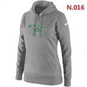 Wholesale Cheap Women's Nike New York Jets Heart & Soul Pullover Hoodie Light Grey
