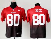 Wholesale Cheap Nike 49ers #80 Jerry Rice Red/Black Men's Stitched NFL Elite Fadeaway Fashion Jersey