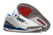 Wholesale Cheap Air Jordan 3 Retro Air Logo Tab True Blue/White-Cement