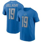 Wholesale Cheap Detroit Lions #19 Kenny Golladay Nike Team Player Name & Number T-Shirt Blue