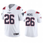 Wholesale Cheap New England Patriots #26 Sony Michel Men's Nike White 2020 Vapor Limited Jersey