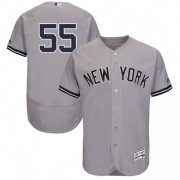 Wholesale Cheap Yankees #55 Domingo German Grey Flexbase Authentic Collection Stitched MLB Jersey