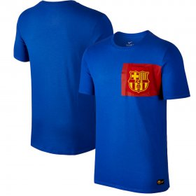 Wholesale Cheap Barcelona Nike Team Crest T-Shirt Royal