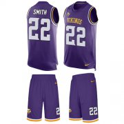 Wholesale Cheap Nike Vikings #22 Harrison Smith Purple Team Color Men's Stitched NFL Limited Tank Top Suit Jersey
