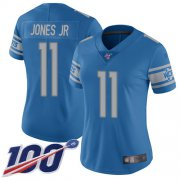 Wholesale Cheap Nike Lions #11 Marvin Jones Jr Blue Team Color Women's Stitched NFL 100th Season Vapor Limited Jersey