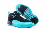 Wholesale Cheap Womens Air Jordan 12 Hyper Jade Gamma Blue/Black