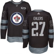 Wholesale Cheap Adidas Jets #27 Nikolaj Ehlers Black 1917-2017 100th Anniversary Stitched NHL Jersey
