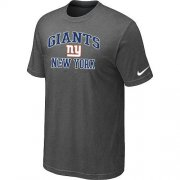 Wholesale Cheap Nike NFL New York Giants Heart & Soul NFL T-Shirt Crow Grey