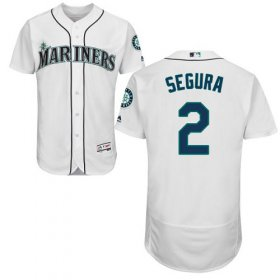 Wholesale Cheap Mariners #2 Jean Segura White Flexbase Authentic Collection Stitched MLB Jersey