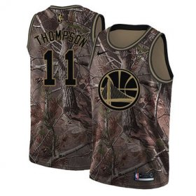 Wholesale Cheap Nike Golden State Warriors #11 Klay Thompson Camo NBA Swingman Realtree Collection Jersey