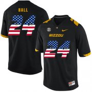 Wholesale Cheap Missouri Tigers 24 Terez Hall Black USA Flag Nike College Football Jersey