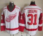 Wholesale Cheap Red Wings #31 Curtis Joseph White CCM Throwback Stitched NHL Jersey