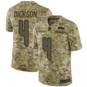 Wholesale Cheap Nike Seahawks #4 Michael Dickson Camo Men's Stitched NFL Limited 2018 Salute To Service Jersey