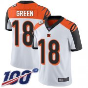Wholesale Cheap Nike Bengals #18 A.J. Green White Men's Stitched NFL 100th Season Vapor Limited Jersey