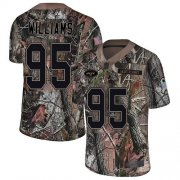 Wholesale Cheap Nike Jets #95 Quinnen Williams Camo Men's Stitched NFL Limited Rush Realtree Jersey