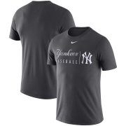 Wholesale Cheap New York Yankees Nike MLB Practice T-Shirt Anthracite