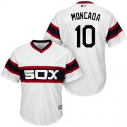 Wholesale Cheap White Sox #10 Yoan Moncada White Alternate Home Cool Base Stitched Youth MLB Jersey