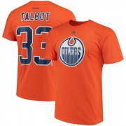 Wholesale Cheap Edmonton Oilers #33 Cam Talbot Reebok Name & Number T-Shirt Orange