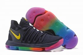 Wholesale Cheap Nike KD 10 Shoes Dark Blue Yellow