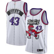 Wholesale Cheap Raptors #43 Pascal Siakam White Basketball Swingman Hardwood Classics Jersey