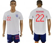 Wholesale Cheap England #22 Rashford Home Soccer Country Jersey