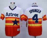 Wholesale Cheap Astros #4 George Springer White/Orange 1980 Turn Back The Clock Stitched MLB Jersey
