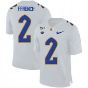Wholesale Cheap Pittsburgh Panthers 2 Maurice Ffrench White 150th Anniversary Patch Nike College Football Jersey