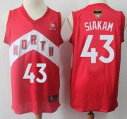 Wholesale Cheap Raptors #43 Pascal Siakam Red 2019 Finals Bound Basketball Swingman Earned Edition Jersey