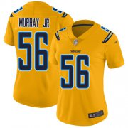 Wholesale Cheap Nike Chargers #56 Kenneth Murray Jr Gold Women's Stitched NFL Limited Inverted Legend Jersey