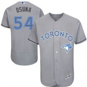 Wholesale Cheap Blue Jays #54 Roberto Osuna Grey Flexbase Authentic Collection Father's Day Stitched MLB Jersey