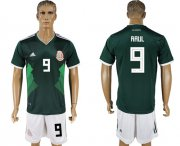 Wholesale Cheap Mexico #9 Raul Green Home Soccer Country Jersey
