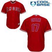 Wholesale Cheap Angels of Anaheim #17 Shohei Ohtani Red New Cool Base Stitched MLB Jersey