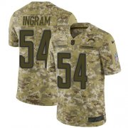 Wholesale Cheap Nike Chargers #54 Melvin Ingram Camo Youth Stitched NFL Limited 2018 Salute to Service Jersey
