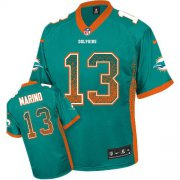Wholesale Cheap Nike Dolphins #13 Dan Marino Aqua Green Team Color Youth Stitched NFL Elite Drift Fashion Jersey