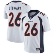 Wholesale Cheap Nike Broncos #26 Darian Stewart White Men's Stitched NFL Vapor Untouchable Limited Jersey