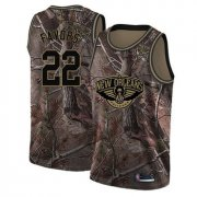 Wholesale Cheap Pelicans #22 Derrick Favors Camo Basketball Swingman Realtree Collection Jersey